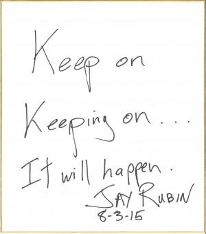 Jay先生色紙
