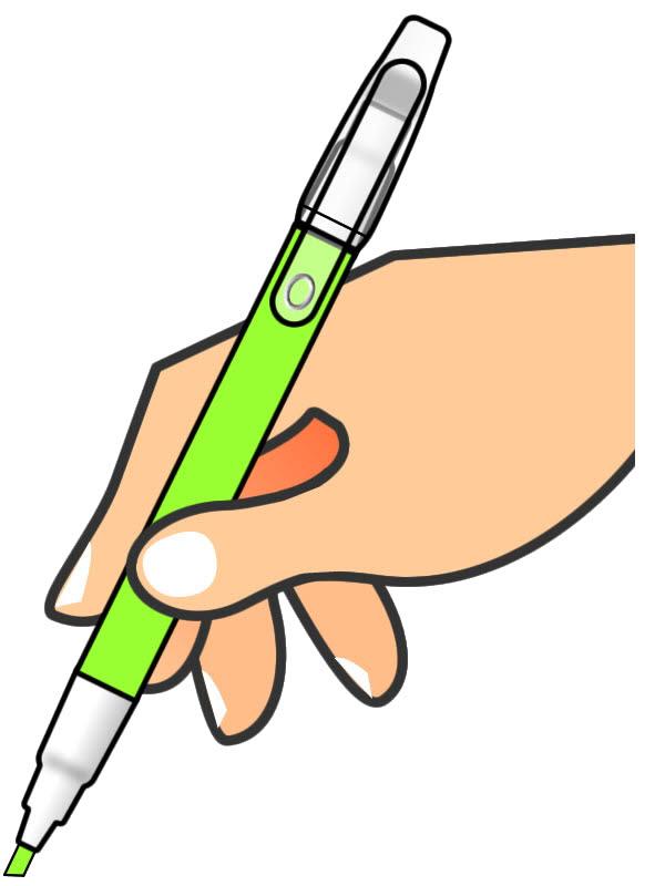 ペン 黄緑