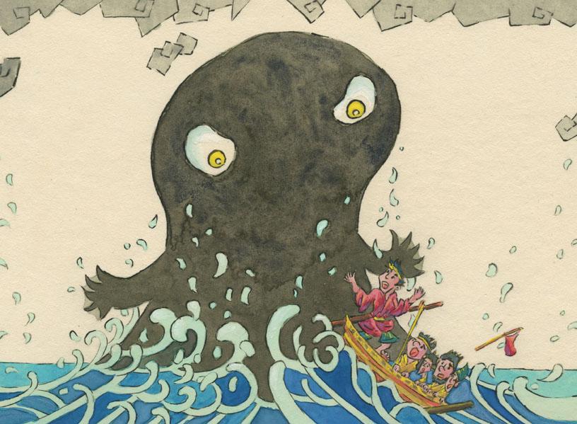 なかむらしんいちろう個展「日本の妖怪・日本の神さま 挿絵原画展」