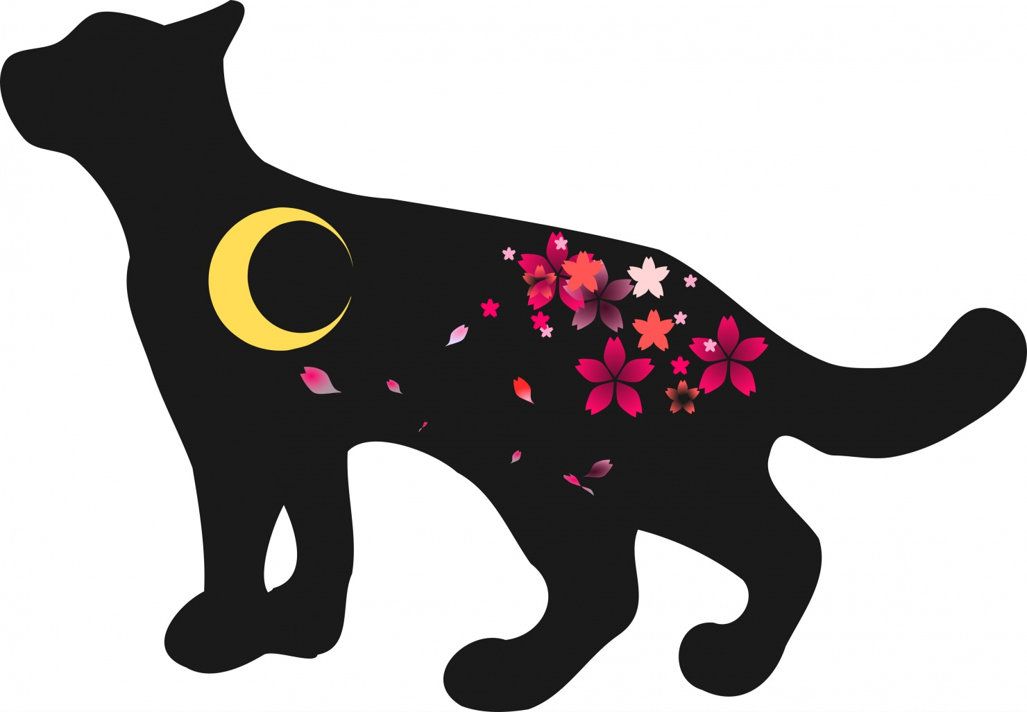 月夜のネコ2-1
