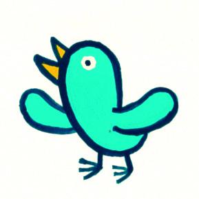 ぷんぷん右の木 -鳥