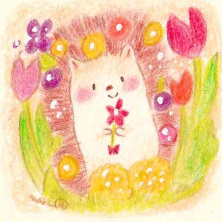 春のポカポカイラスト