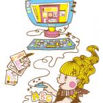 カンタン! かわいい! 女子Webデザインのレシピ(挿し絵担当)